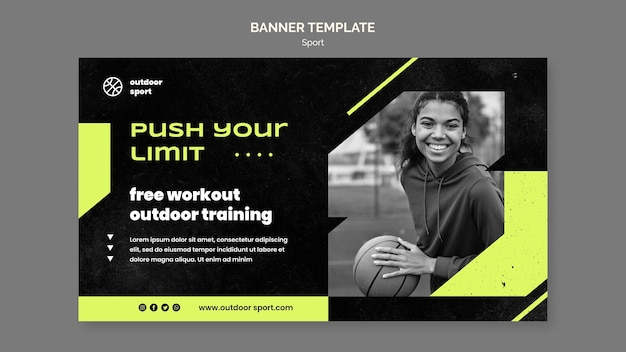 Free workout banner template