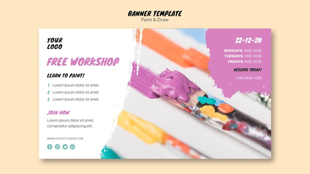 Free workshop banner template