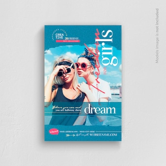 Freedom for girls flyer template