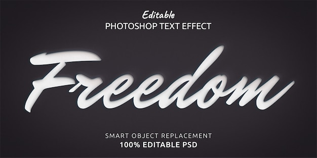 Freedom text style effect