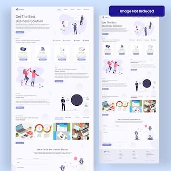Freelance agency landing page