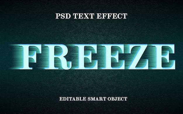 Freeze text effect