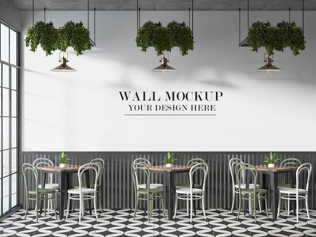 프랑스 비스트로 또는 카페 벽 템플릿