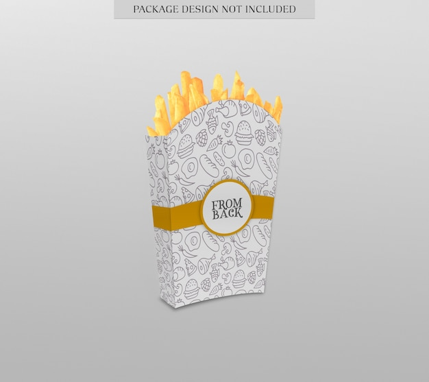 French fries package mockup
