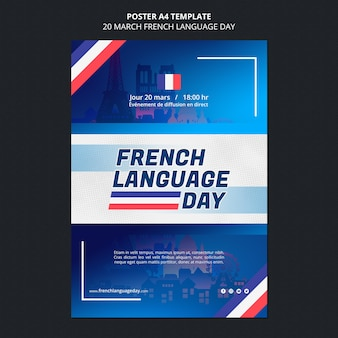 French language day poster template