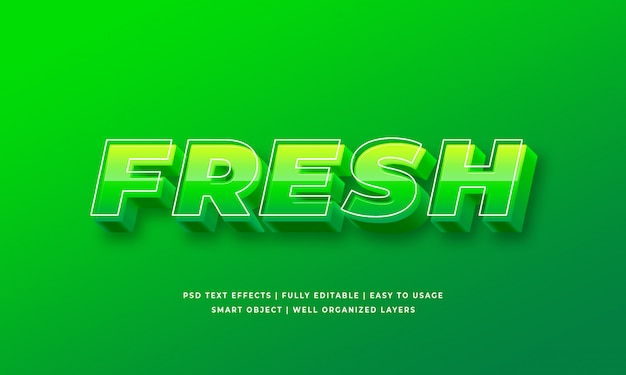 Fresh 3d text style effect