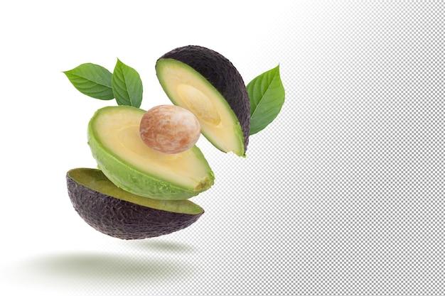 Fresh avocado isolated on alpha background