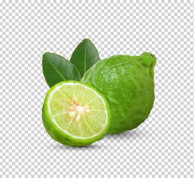 Fresh bergamot with leaves isolated
