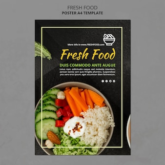 Fresh food ad template poster