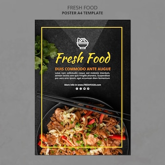 Fresh food flyer template