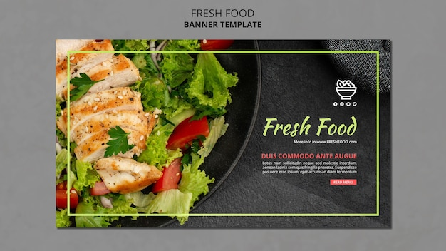 Fresh food template banner