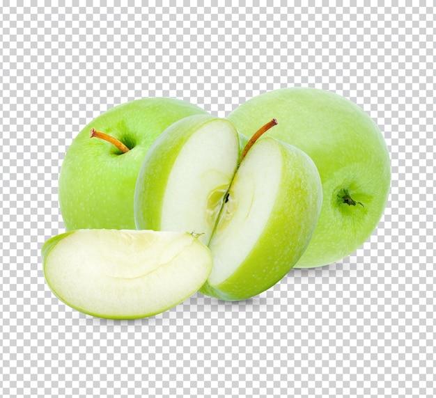 신선한 녹색 사과 절연 프리미엄 psd