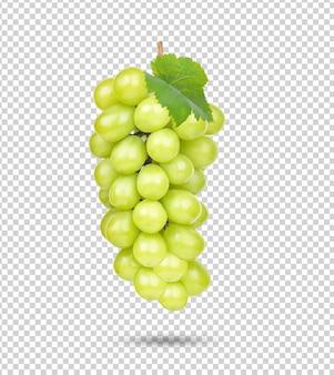 Свежий зеленый виноград изолированный premium psd