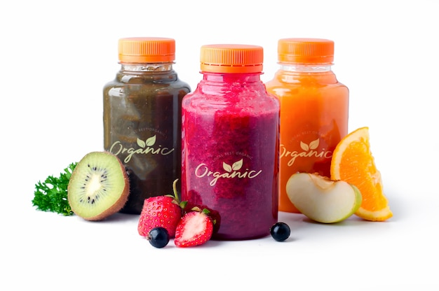 Fresh and healthy fruit  vegetable juices