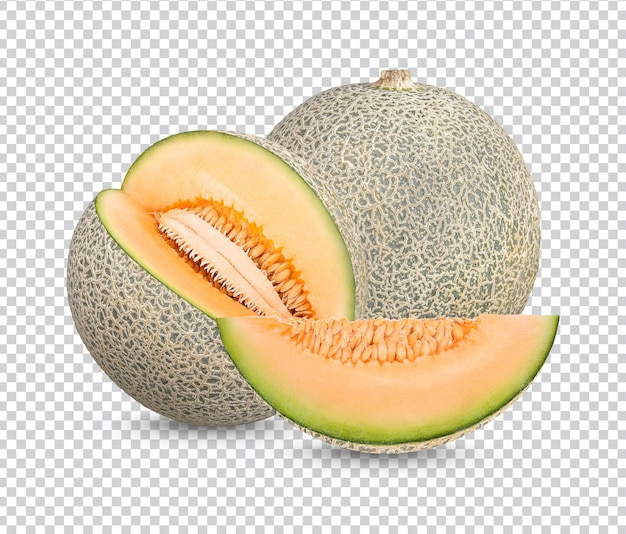 Fresh japanese melons isolated