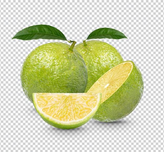 分離された新鮮なレモン