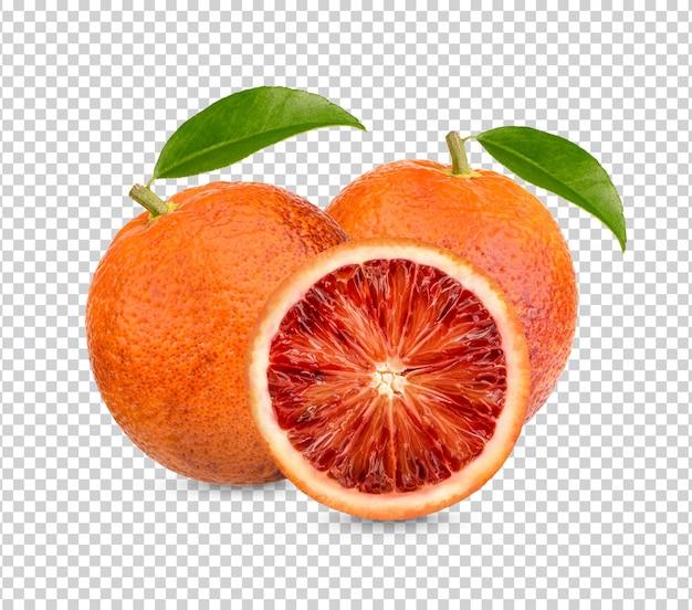 Свежая апельсиновая кровь изолирована premium psd