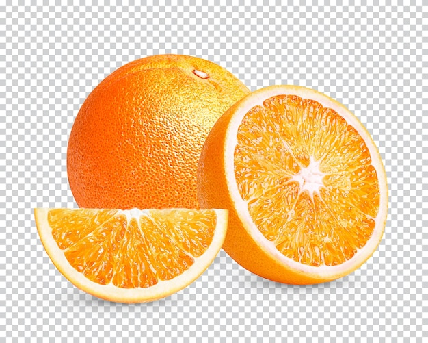 Свежий апельсин изолирован