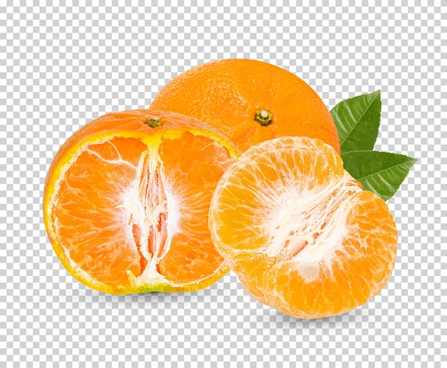 分離された新鮮なオレンジ Premium Psd