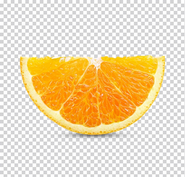 Свежий ломтик апельсина изолирован