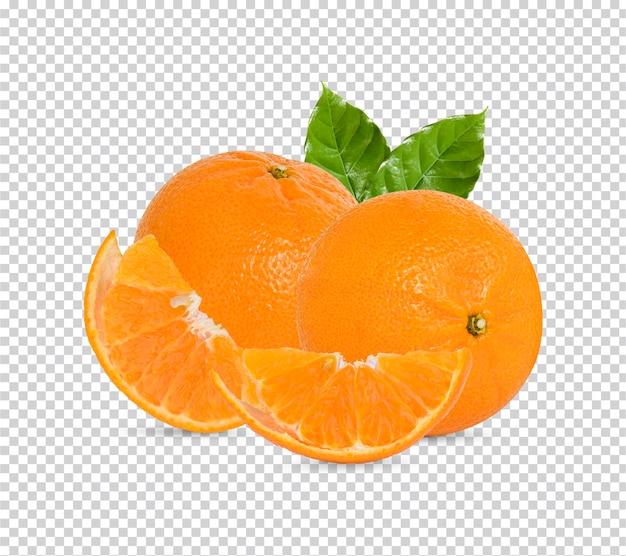 葉が分離された新鮮なオレンジ