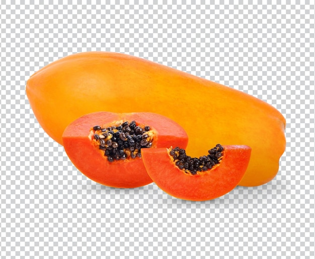 Свежая папайя изолирована