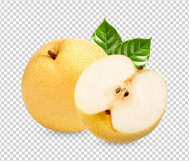 葉が分離された新鮮な梨プレミアムpsd