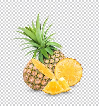 Fresh pineapple isolated