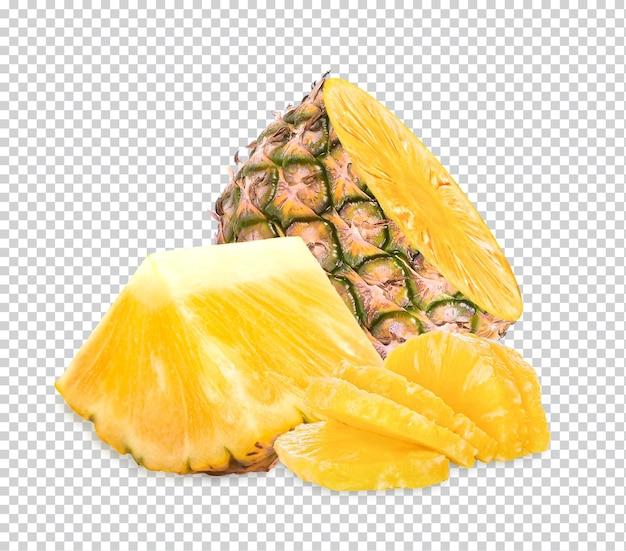 分離された新鮮なパイナップル