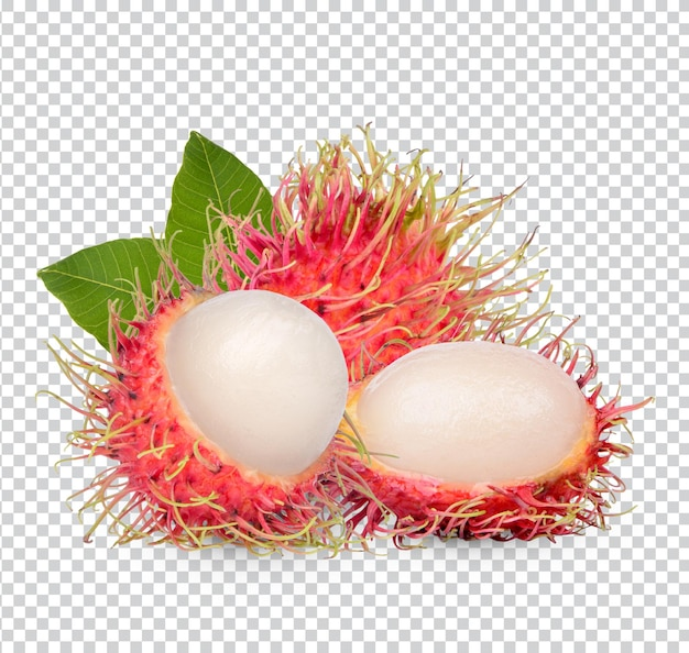 Fresh rambutan fruit isolated premium psd