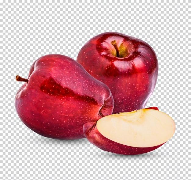 Свежее красное яблоко изолировано