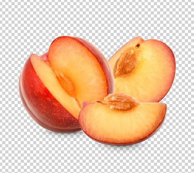 Fresh red plum isolated premium psd