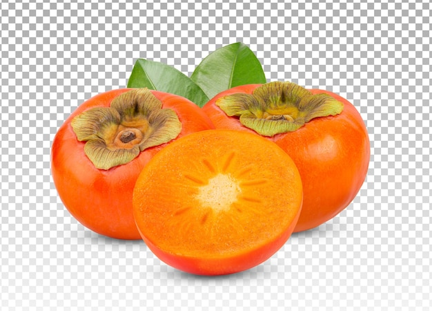 Fresh ripe persimmons isolated