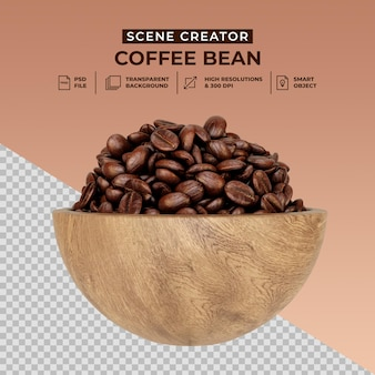 Создатель сцены свежеобжаренных кофейных зерен Premium Psd
