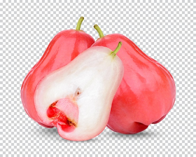Свежее розовое яблоко изолированные