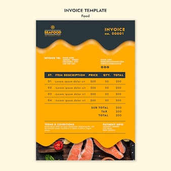 Fresh seafood invoice template