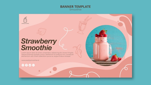 Fresh smoothie banner template