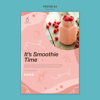 Fresh smoothie flyer with photo