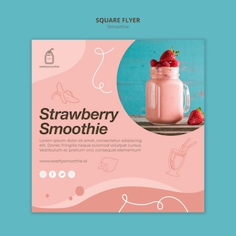 Fresh smoothie square flyer