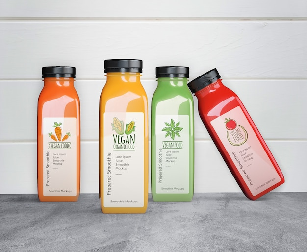 Fresh summer smoothies mock-up