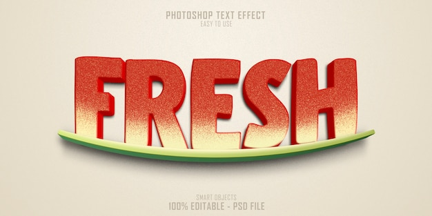 Fresh text style effect template