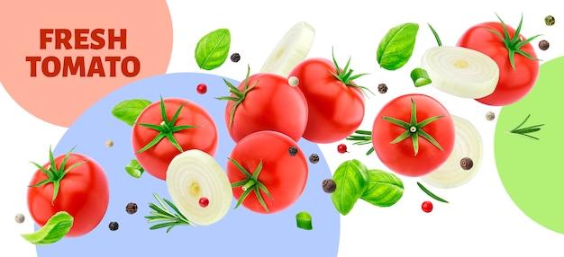 Свежий томатный баннер
