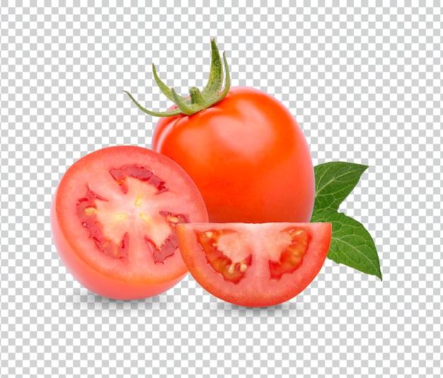 Свежие помидоры с листьями изолированы