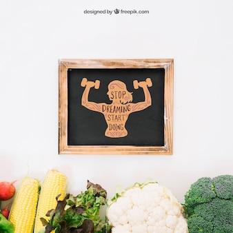 Fresh vegetarian mockup