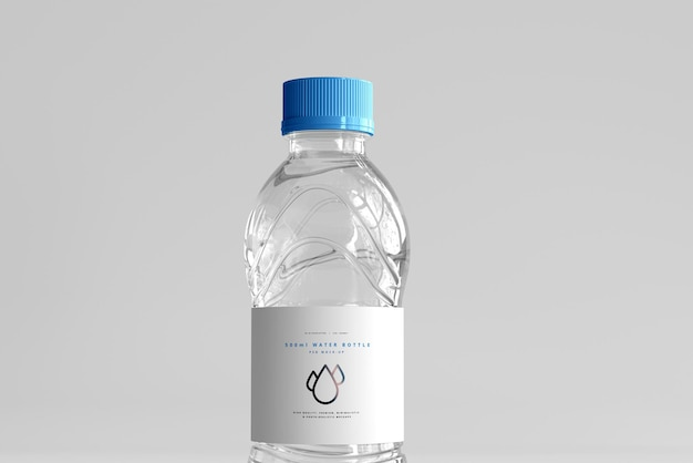 Fresh water bottle mockup