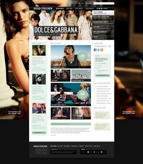 Fresco website template psd
