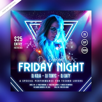 Friday night party flyer or social media post
