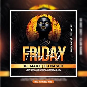 Friday night party flyer or social media post