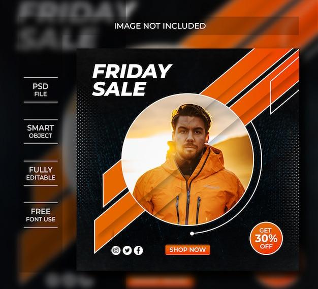 Пятничная распродажа в социальных сетях instagram post