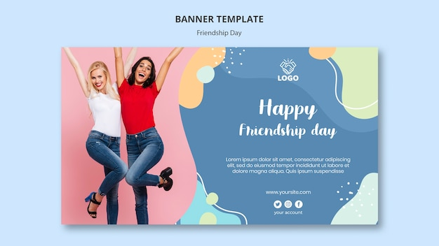 Friendship day banner template style